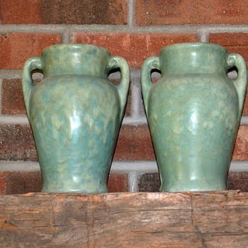 Pair of Brush McCoy 'Art Vellum' Jars