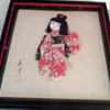 Asian Cloth art of little girl with hair