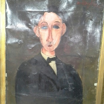 Garage Accumulation Art Collection Modigliani - One of Those True Thrift Store Masterpiece Moments - Fine Art
