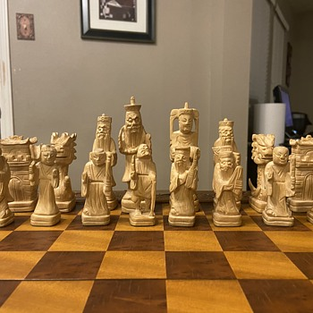 Chinese Hand Carved Chess Board  - Games