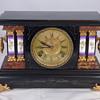Ingraham Girl Cherub Black Mantel Clock