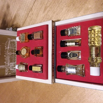 Old perfume box and bottles  - Bottles