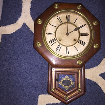 Antique   ansonia school house clock  - Clocks