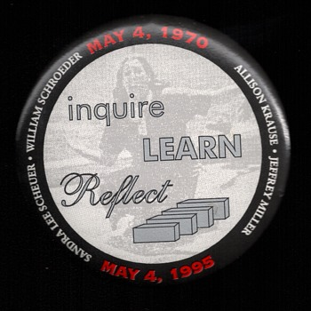 REMEMBER Kent State shooting Vietnam pinback button