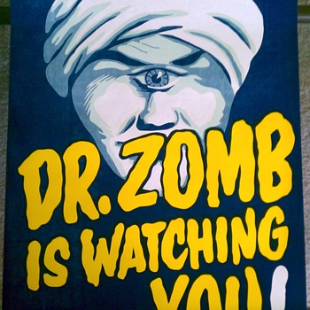 """Dr. Zomb"" Original Magic Poster - Posters and Prints"
