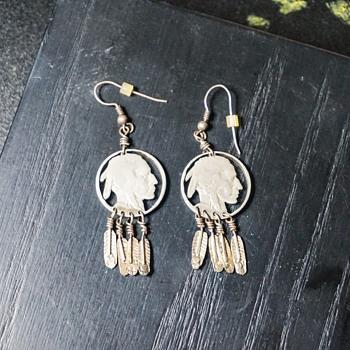 Native American Indian Head Earrings - Native American