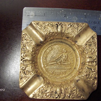 Achille Mourant Corfou Brass Ashtray - Tobacciana