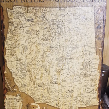 The Historic West Lost Mines and Ghost Towns Map - Paper