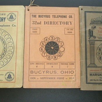 Early Automatic Telephone Exchange Directories - Telephones