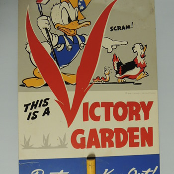 WW2 Victory garden - Signs