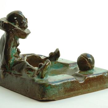 "very rare ""PIERROT"" smoking tray by LEON ELCHINGER - Art Deco"