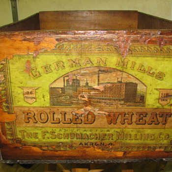 Nice old German Mills box (later became Quaker Oats)  - Advertising
