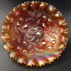 Northwood Glass - Strawberry Bowl - Marigold Non-Opalescent