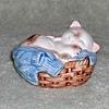 "1983 - AVON ""Kitten in a Basket"" Figurine"