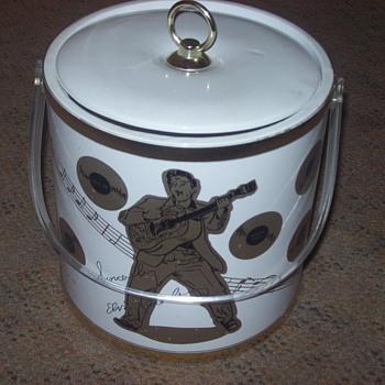1988 elvis presley ice bucket - Music Memorabilia