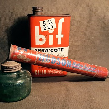 Bif Spra Cote Household Insecticide With DDT 1950s - Advertising