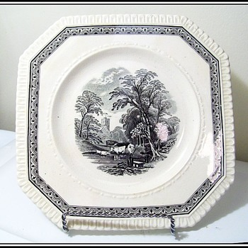 Antique GEORGE JONES Sons - Crescent China plate - China and Dinnerware