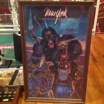 Budweiser King Kong poster - Breweriana