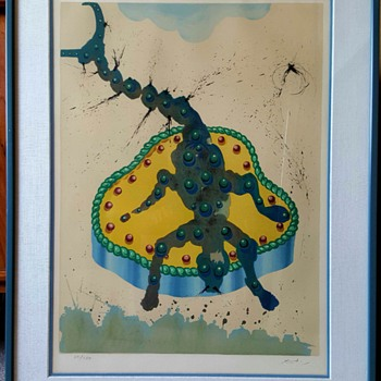 "Salvador Dali Signs of the Zodiac ""Scorpio"" - Mid-Century Modern"