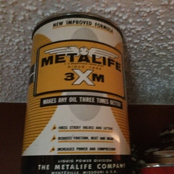 METALIFE 3XM oil can NOS - Petroliana