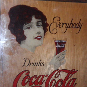Coca Cola mirror picture (It looks like it has been etched) - Coca-Cola