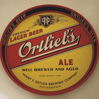 Vintage Ortlieb Beer Tray - Breweriana