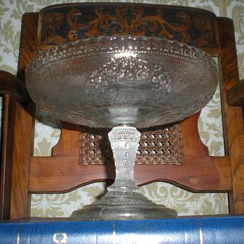 Rindskopf pressed glass bowl leg-1915. - Art Glass