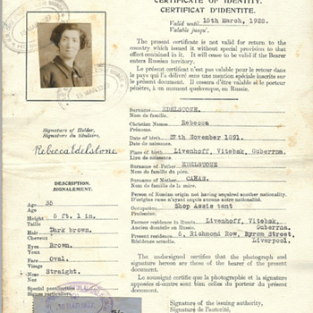 1927 RARE British Nansen passport