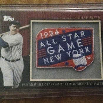 Babe Ruth Commemorative Patch Card