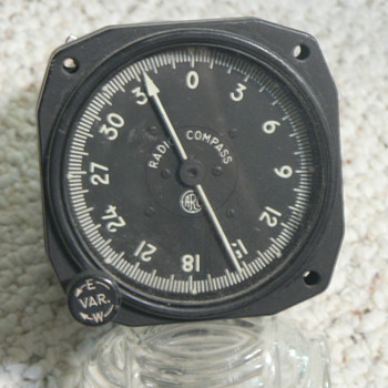 Aircraft Instrument ADF indicator - Military and Wartime