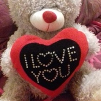 I love you bear made by Cuddles Collection