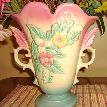 Hull Vase and Pitcher - Wildflower Pattern - Pottery