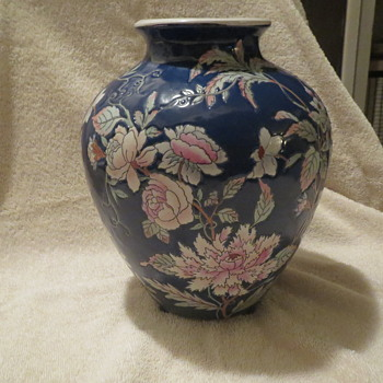 Oriental Floral Vase - Pottery