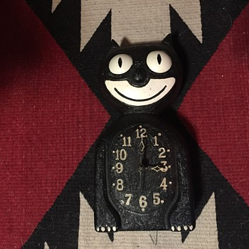 Extremely rare 1930s electric metal kit cat clock - Clocks