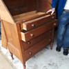 antique walnut drop-front secretary