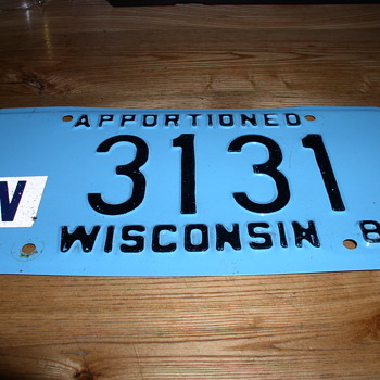 Plate number 3 1 31   3 31 portion - Classic Cars