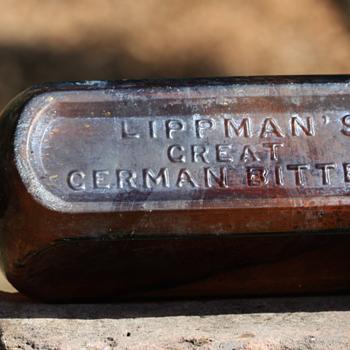 #####Two different Lippman's Bitters Bottles#####