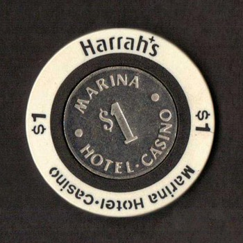 Harrah's Casino $1 Gaming Chip - Games