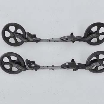 "Mysterious ""roller skates"" from my uncle's childhood in Germany and Brooklyn NY ~1910-15-  - Sporting Goods"