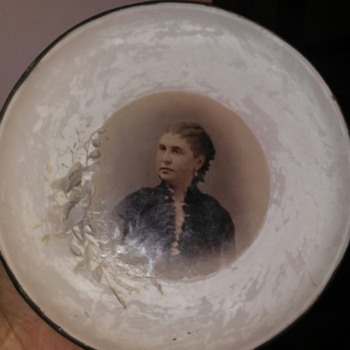 Mourning plate - Victorian Era