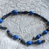 Beautiful Old Lapis Lazuli necklace strung on a metal chain wondering about origin and age :)