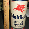 SOCONY VACUUM ALL CARDBOARD OIL CAN, PEGASUS,ARTIC SPECIAL