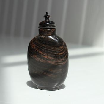 Unusual Chrysoberyl Banded Snuff Bottle - Asian