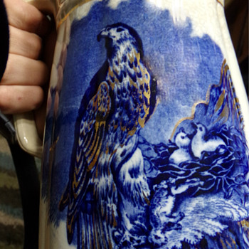 Circa 1860 Golden Eagle Pitcher  - Pottery