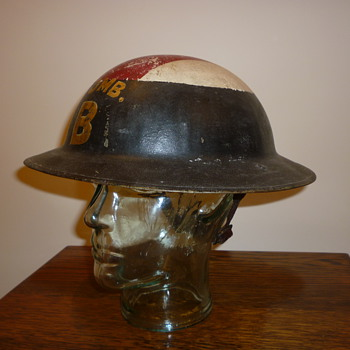 British WWI Stretcher Bearers steel helmet.