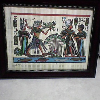 EGYPTIAN SIGNED PAINTING - Folk Art
