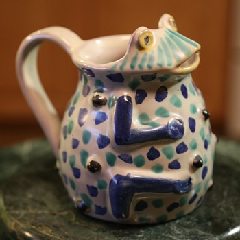 Talavera Frog Pitcher from Mexico - Pottery