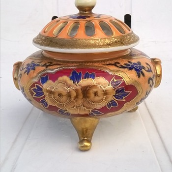 Pre-1920 Noritake Incense Burner Thrift Shop Find 3,50 Euro ($3.70) - Asian