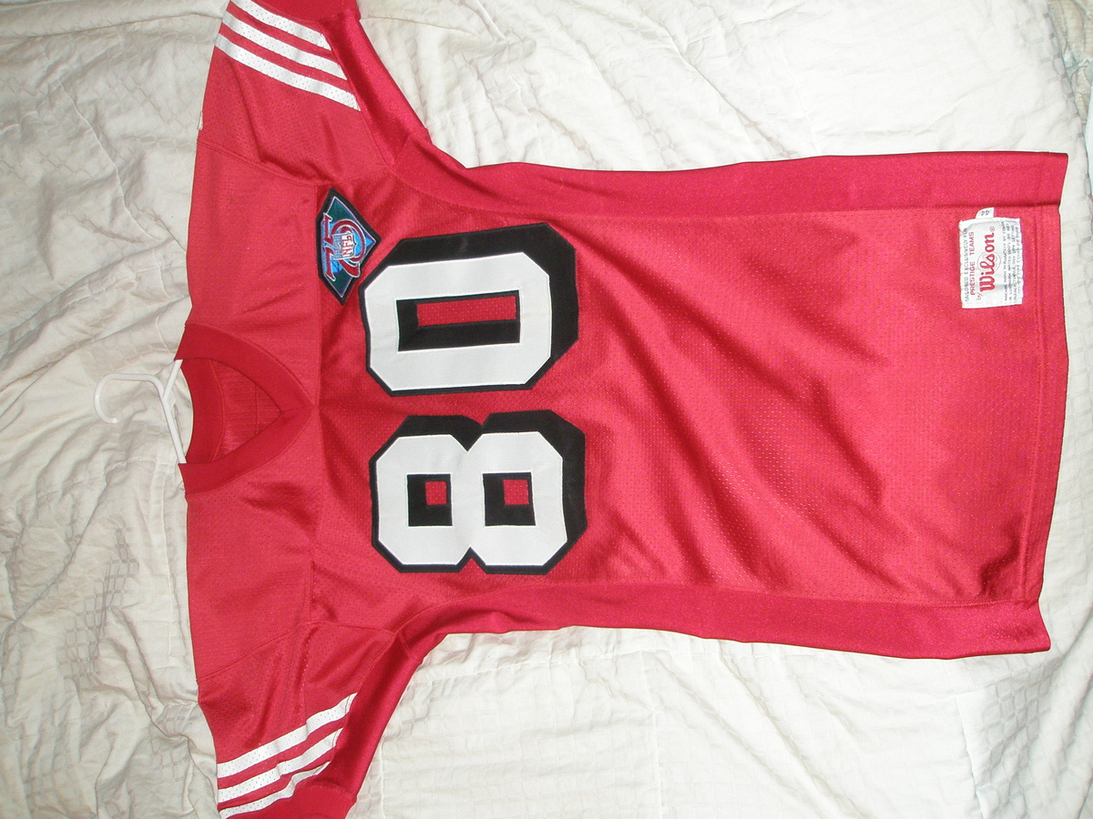 big sale 7a6f8 097ea 1994 Game Used Jerry Rice Jersey | Collectors Weekly