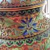 Post 1950 cloisonné lotus jar